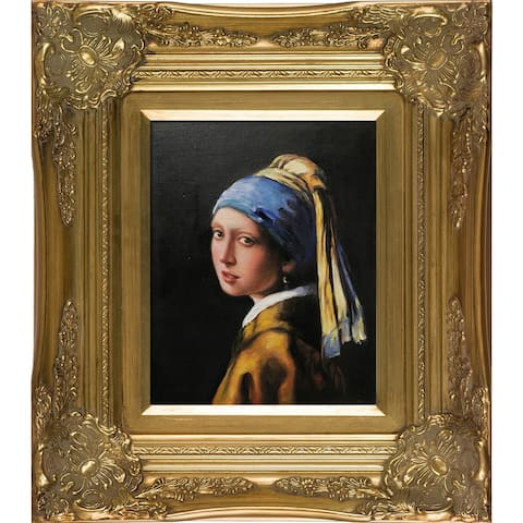 Johannes Vermeer Girl with Pearl Earring Hand Painted Oil Reproduction