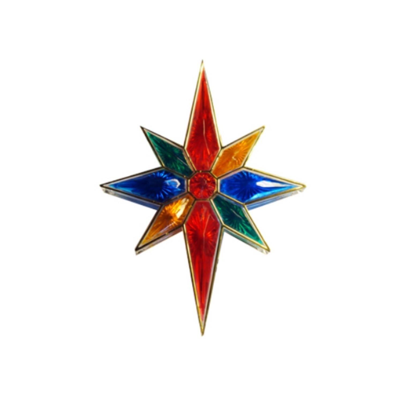 """Sienna 11"""" Lighted Faceted Multi Bethlehem Star Christmas..."""