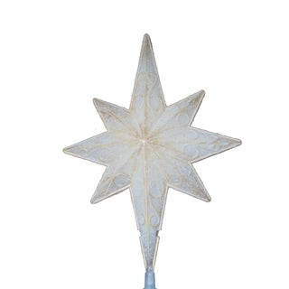 """10"""" Lighted Christmas Star of Bethlehem Tree Topper w/ Scrolling - Clear Lights"""