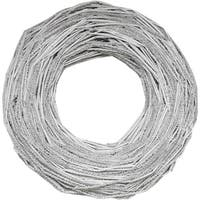 """13"""" Glittered Light Gray Country Rustic Artificial Twig Wreath - Unlit"""