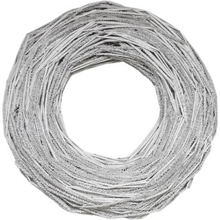 "13"" Glittered Light Gray Country Rustic Artificial Twig Wreath - Unlit"