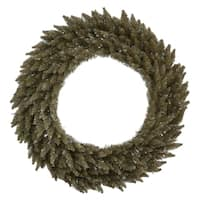 "48"" Antique Champagne Fir Artificial Christmas Wreath - Unlit"