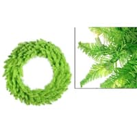 """36"""" Pre-Lit Lime Green Ashley Spruce Christmas Wreath - Clear & Green Lights"""