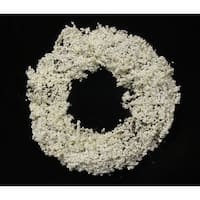 """21"""" Decorative Artificial White Iced Berry Christmas Wreath - Unlit"""