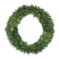 "50' x 12"" Pre-Lit Buffalo Fir Commercial Artficial Christmas Garland -  Warm White LED Lights"