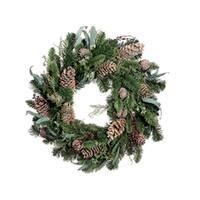 "24"" Eucalyptus Cedar Pine Artificial Christmas Wreath - Unlit"