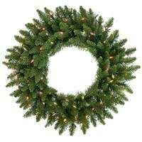 "48"" Pre-Lit Camdon Fir Artificial Christmas Wreath - Multi Dura Lights"