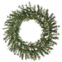 "48"" Mixed Country Pine Artificial Christmas Wreath - Unlit"