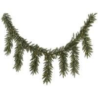 "9' x 12"" Pre-Lit Camdon Fir Artificial Icicle Christmas Garland - Clear Dura-Lit Lights"
