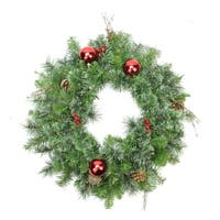 "24"" Pre-Decorated Mixed Pine Artificial Christmas Wreath - Unlit"