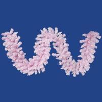 "9' x 14"" Flocked Cupcake Pink Artificial Christmas Garland - Unlit"