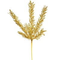 """21"""" Sparkling Gold Rosemary Glitter Floral Crafting Christmas Spray"""