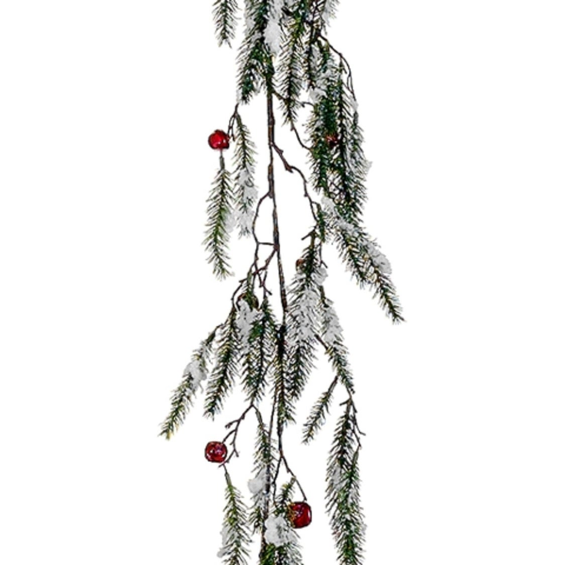 """Allstate Floral & Craft 5' x 15"""" Snowy Pine with Red Jing..."""
