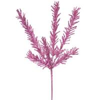 "21"" Sparkling Pink Rosemary Glitter Floral Crafting Christmas Spray"