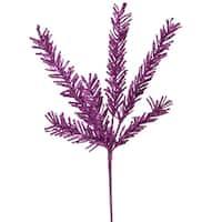 "21"" Sparkling Purple Rosemary Glitter Floral Crafting Christmas Spray"