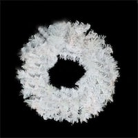 "24"" White Iridescent Mixed Pine Artificial Christmas Wreath - Unlit"