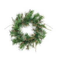 "24"" Country Mixed Pine Artificial Christmas Wreath - Unlit"