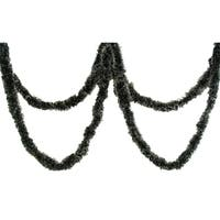 "9' x 3"" Traditional Frosted Dark Green Artificial Christmas Garland - Unlit"