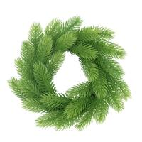 """10"""" Light Green Molded Tip Artificial Christmas Wreath on Twig Base - Unlit"""