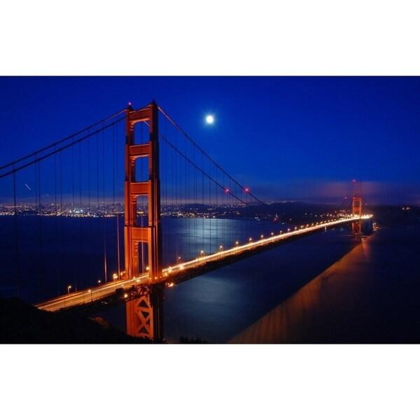 Shop LED Lighted Famous San Francisco Golden Gate Bridge Canvas Wall ...