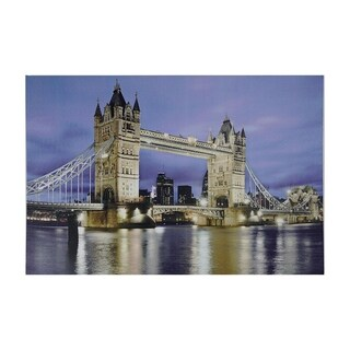 "LED Lighted Famous London Bridge Canvas Wall Art 15.75"" x 23.5"""