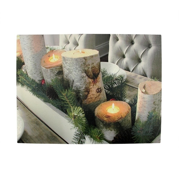 Shop Led Lighted Flickering Rustic Lodge Woodland Birch