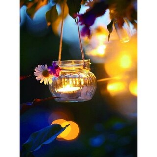 "LED Lighted Tealight Candle with Daisy Scene Canvas Wall Art 15.75"" x 11.75"""