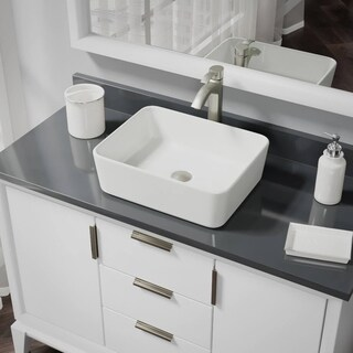 R2-5007-B-R9-7006 Biscuit Porcelain Vessel Sink with Vessel Faucet and Vessel Pop-Up Drain