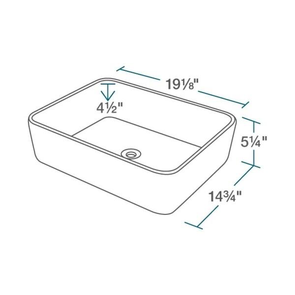R2-5007-W-R9-7001 White Porcelain Vessel Sink with Vessel Faucet and Vessel Pop-Up Drain