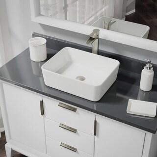 R2-5007-B-R9-7007 Biscuit Porcelain Vessel Sink with Vessel Faucet and Vessel Pop-Up Drain