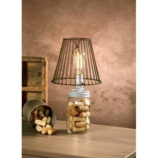 7.5' Cleveland Vintage Lighting Silver Wide Mouth Canning Jar Light Bulb Lamp Adapter