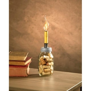 8' Cleveland Vintage Lighting Small Mouth Canning Jar Dripping Candlestick Light Bulb Lamp Adapter