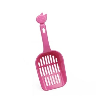 """10"""" Pink Slotted Cat Litter Shovel Scoop with Cat Head Silhouette Handle"""