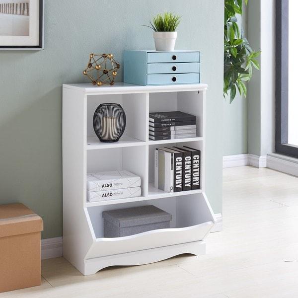 Danya B. Multi Cubby Storage Cabinet   White
