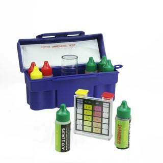 6-Way Test Kit with Testing Block and Case for Swimming Pools and Spas - Blue