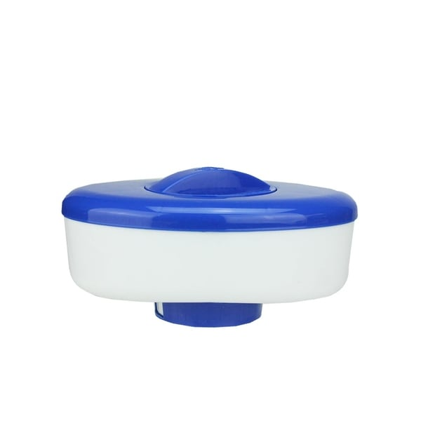 """9"""" Classic Oval Blue and White Floating Swimming Pool Chlorine Dispenser"""