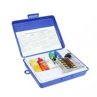 5-Piece Swimming Pool Test Kit with Tester Block and Case - Blue