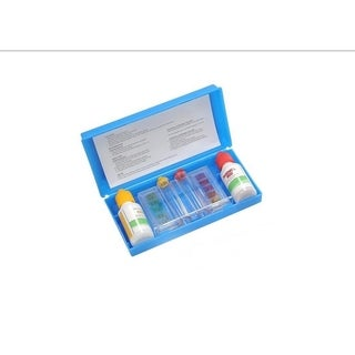 3-Way Swimming Pool Test Kit with Case - Tests pH  Chlorine and Bromine Levels - Blue