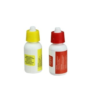 Set of 2 Test Kit Replacement Refill Bottles for Swimming Pools - Yellow