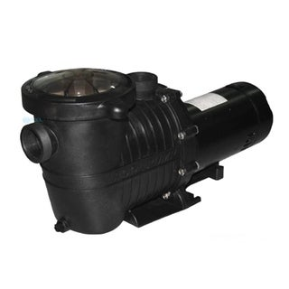 1 HP High Performance Self-Priming Full-Flow Hydraulic Swimming Pool and Spa Pump - Black