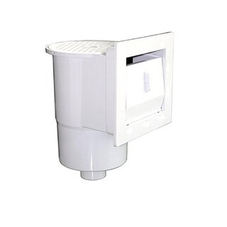 """12.5"""" White Thru-Wall Skimmer for Above-Ground Swimming Pool with Decorative Face Plate"""