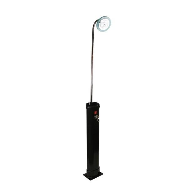 "18 Liter Eco-Friendly Solar-Powered Poolside Shower Station 85"" - Black"