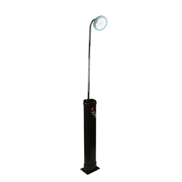 "18 Liter LED Lighted Eco-Friendly Solar-Powered Poolside Shower Station 85"" - Black"
