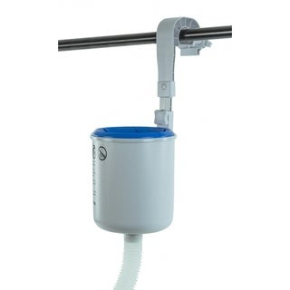 """18.5"""" Adjustable Wall Mounted Pool Surface Skimmer with Hooks - Silver"""