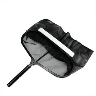 "2-Piece Deep Bag Swimming Pool Leaf Rake Head 20"" - gray"