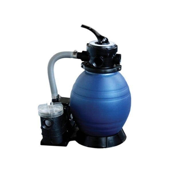 """12"""" Top-Mount Above-Ground Swimming Pool and Spa Sand Filter and .25 HP Pump System - gray"""
