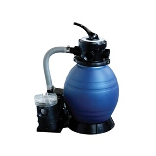 "12"" Top-Mount Above-Ground Swimming Pool and Spa Sand Filter and .25 HP Pump System - gray"