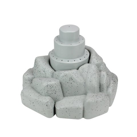 """11"""" Rock Shaped Floating Fountain for Swimming Pools or Spas - gray"""