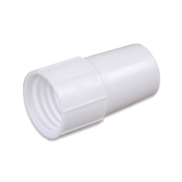 "4"" White Cuff for Swimming Pool or Spa 1.25"" Vacuum Hose"