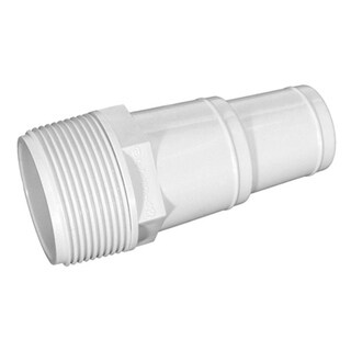 "4"" White Swimming Pool or Spa Threaded Hose Adaptor"